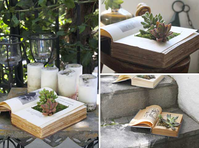 old-books-upcycled-planters