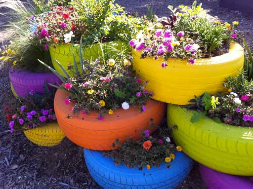 old-tires-upcycled-planters